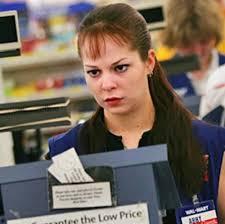 cashier - stressed